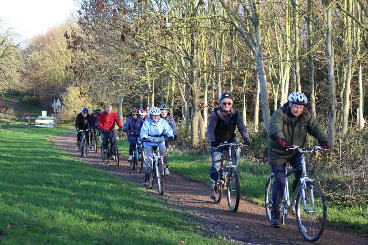 Senior cycling at Rosliston Forestry Centre
