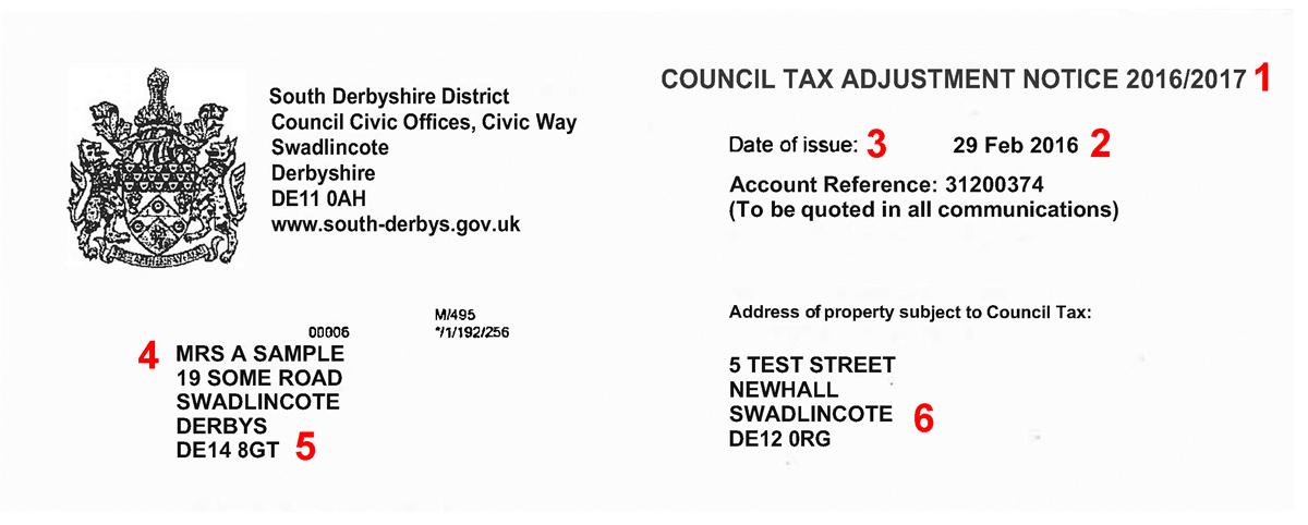 Your Council Tax bill | South Derbyshire District Council
