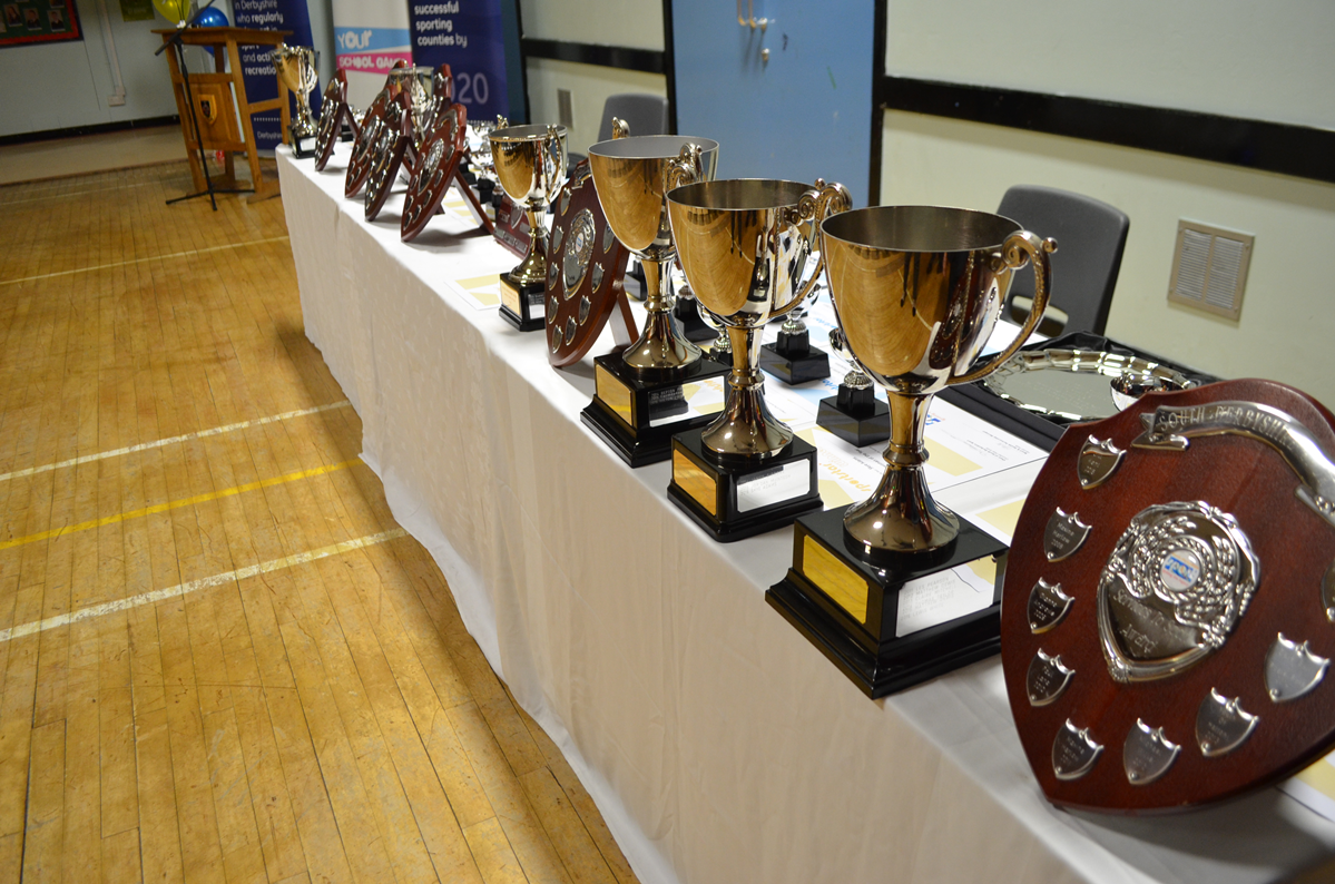 Sports Awards trophies 2016