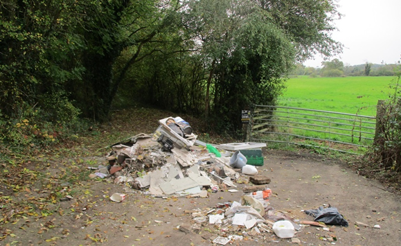 Fly-tipping at Findern