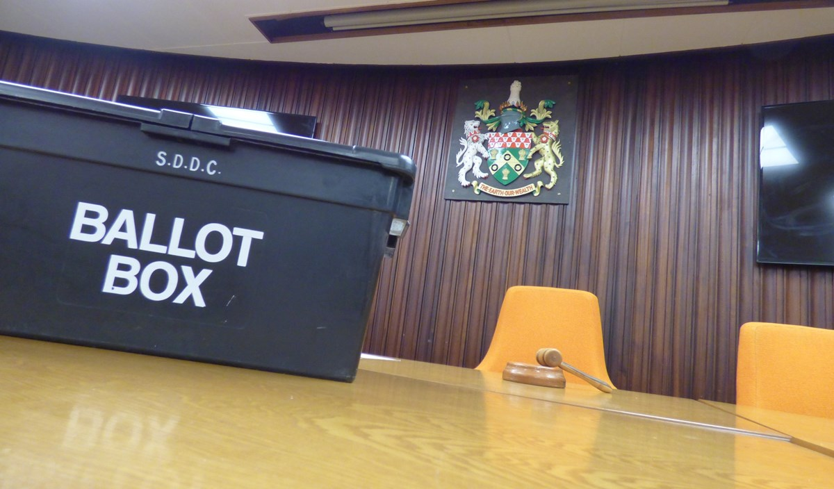 South Derbyshire ballot box