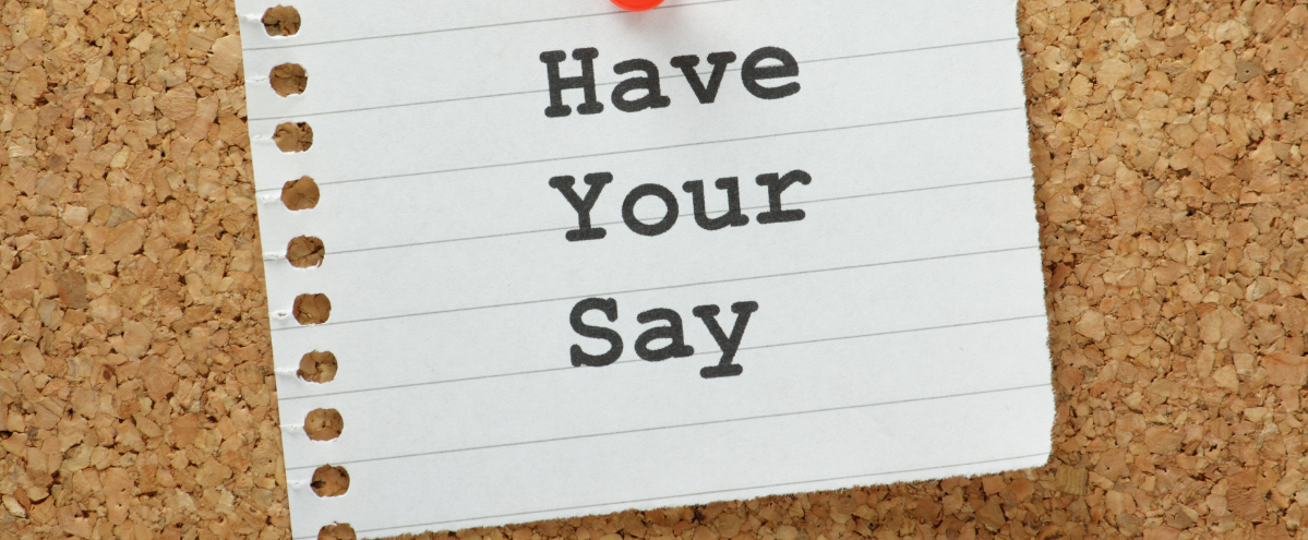 Have your say banner