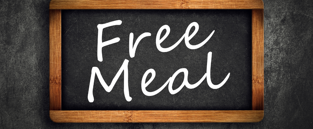 Free meal banner