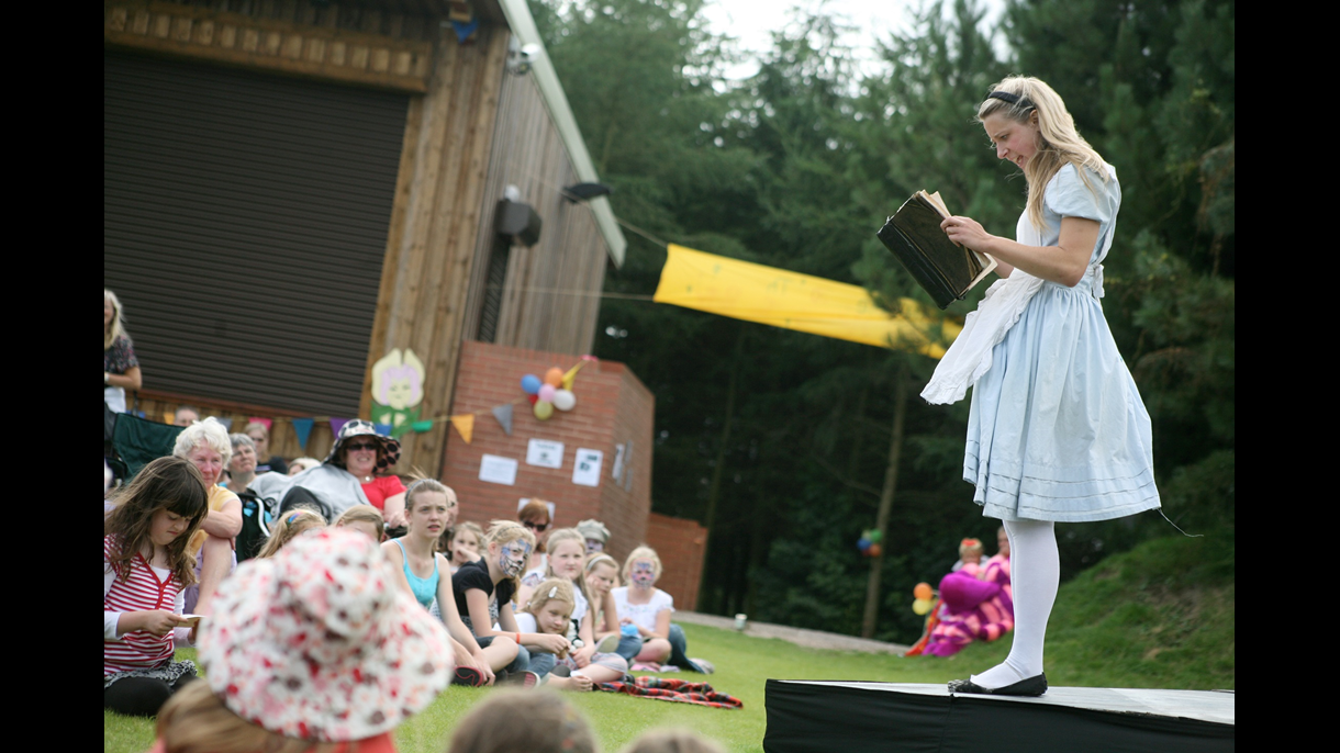 Alice in Wonderland performance at The Glade