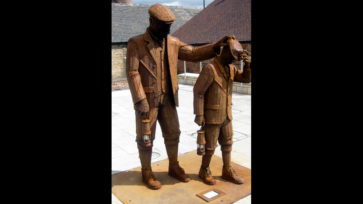 Miners sculpture